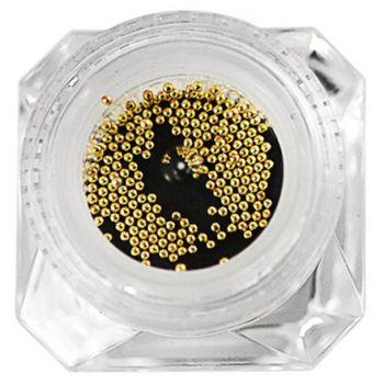 IRISK, Бисер металлический в декоративной баночке (золото)