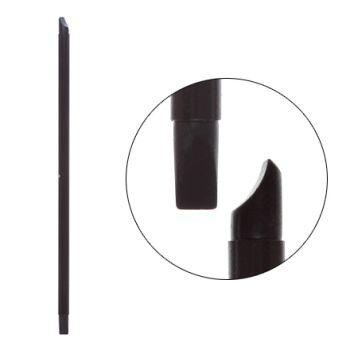 IRISK, Кисть силиконовая с тонкой ручкой Nail Sculptor, вогнутая лопатка/прямая, чёрная