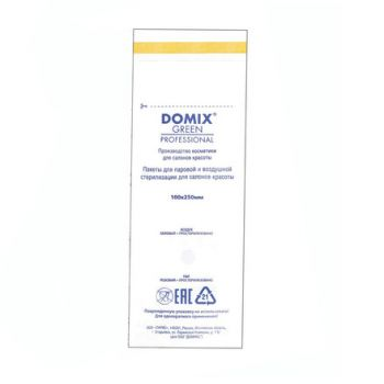 Domix, Крафт-пакеты для стерилизации белые, 100х250 мм (100 шт.)