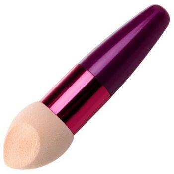 Irisk, Beauty Sculptor, Кисть-спонж для макияжа скошенная (розовая)
