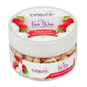 EVABOND, Воск для лица «Face Wax», Клубника со сливками, 45 г