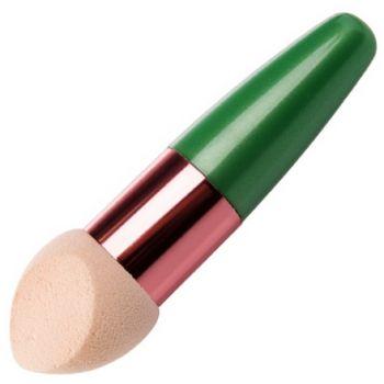 Irisk, Beauty Sculptor, Кисть-спонж для макияжа скошенная (зеленая)