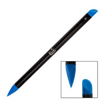 IRISK, Кисть силиконовая Nail Sculptor, скошенный овал/скошенное перо, синяя