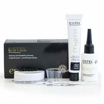 Estel, Краска для бровей и ресниц Enigma, черная