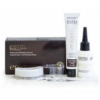 Estel, Краска для бровей и ресниц Enigma, классический коричневый