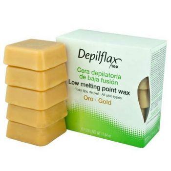 Depilflax, Воск горячий в брусках, золото, 0,5 кг