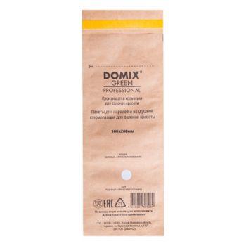 Domix, Крафт-пакеты для стерилизации и хранения инструментов, коричневые, 100х200 мм