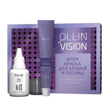 OLLIN, Крем-краска для бровей и ресниц Vision, brown