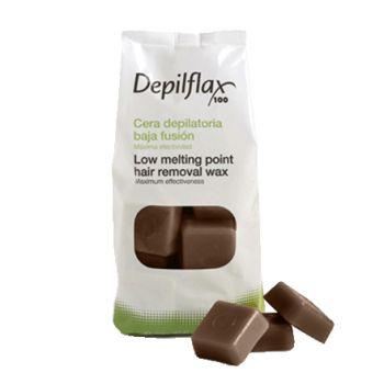Depilflax, Воск горячий в брусках, какао (шоколад), 1 кг