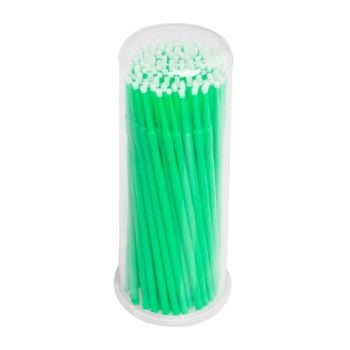 IRISK, Микрощеточки в баночке, M, зеленые, 90-100 шт.