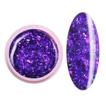 Ice Nova, Глиттер-гель №53, фиолетовый