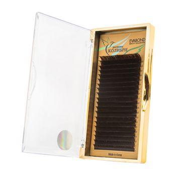 EVABOND, Ресницы на ленте «Колибри», D=0,07, C-изгиб, темный шоколад
