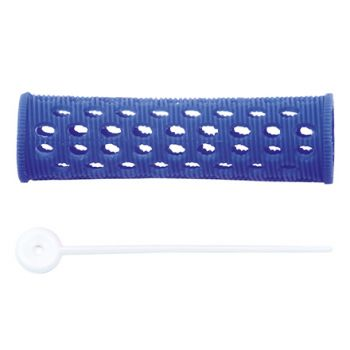Dewal, Бигуди пластиковые, синие, 20 мм